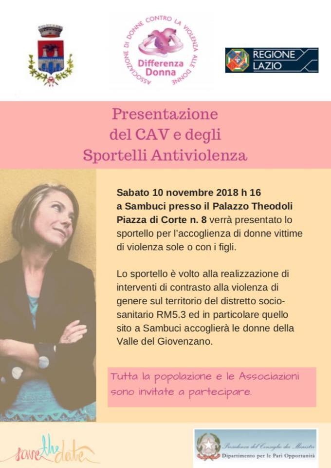 Presentazione del CAV e degli sportelli antiviolenza