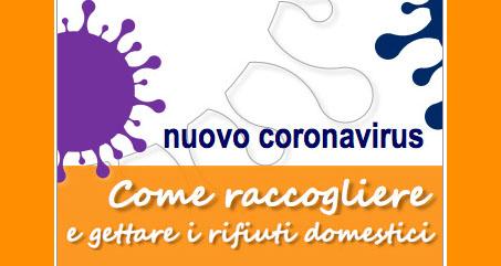 INDICAZIONI PER LA GESTIONE DEI RIFIUTI URBANI IN RELAZIONE ALLA TRASMISSIONE DELL'INFEZIONE DA VIRUS COVID-19