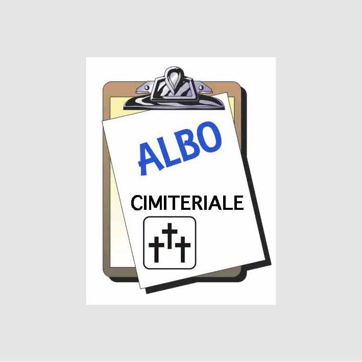 ALBO CIMITERIALE